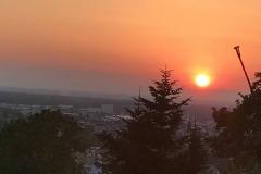 … und wurde mit einem fulminanten Sonnenuntergang belohnt.
