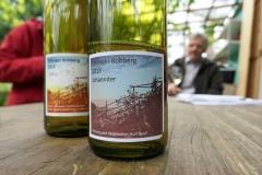 Höchst inoffiziell und rein privat: Wein vom Ettlinger Robberg.Foto: Werner Bentz
