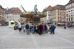 Der Gutenberg-Platz ist einer der zentralen Plätze zwischen La Petit France und dem Münster.